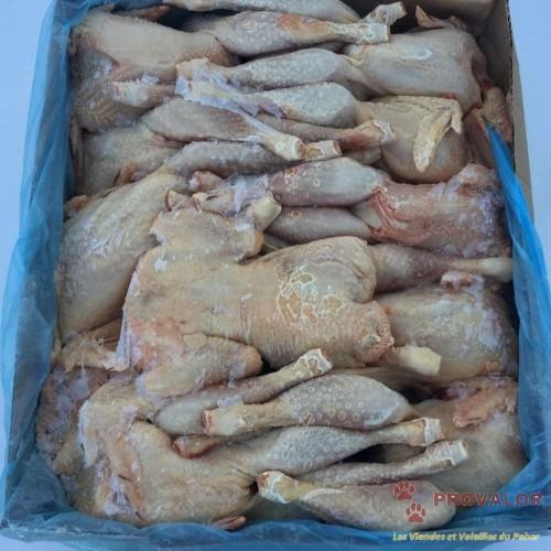 Poules entières PAC surgelées - Colis 10 kg